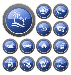 Vacations buttons vector image vector image