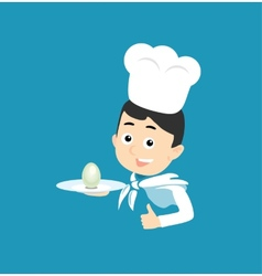 Cooking icon plate with egg vector
