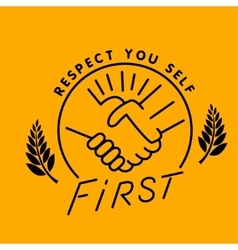 respect you vector image vector image