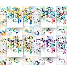 Set of triangular abstract backgrounds vector image