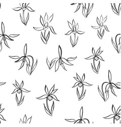 watercolor flowers hand drawing seamless pattern vector image