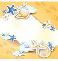 beach background with copy space vector image