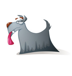 crazy dog - funny cartoon characters vector image vector image