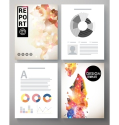 Creative modern template for an corporate report vector image vector image