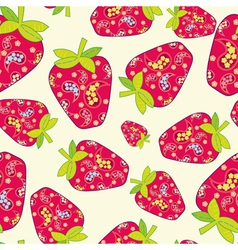 Cute fruits seamless background vector image vector image