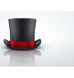 Light Background Black gentleman hat cylinder with vector image vector image