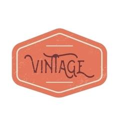 Vintage red label vector image vector image