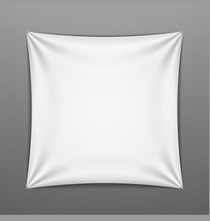 White stretched square shape with folds vector image vector image