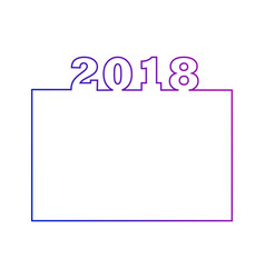 2018 calendar design or an element for website vector image