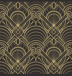 Abstract art deco seamless pattern 01 vector