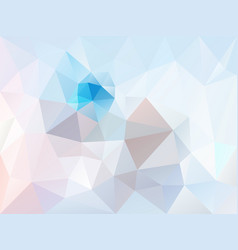 abstract irregular polygon background ice blue vector image