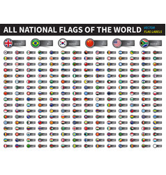 all national flags world circle cover vector image