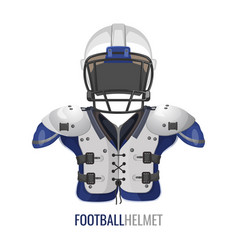 american football costume element cartoon vector image