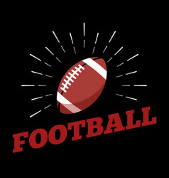 American football sport ball logo icon sun burtst vector