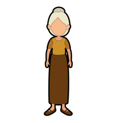 Avatar grandmother cartoon vector