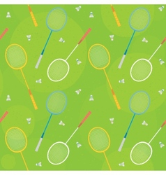 badminton green seamless pattern vector image