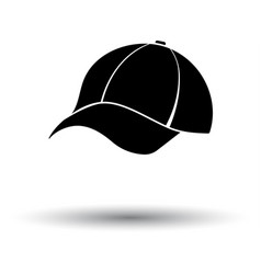 baseball cap icon vector image