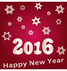 Beautiful Happy New Year 2016 vector