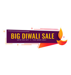 big diwali sale and promotional banner design vector image