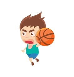 Boy Sportsman Playing BasketBall Part Of Child vector image