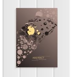 Brochure design business template nature element vector image