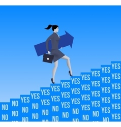 Career ladder opportunities business concept vector