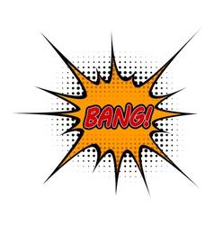 Cartoon bang vector
