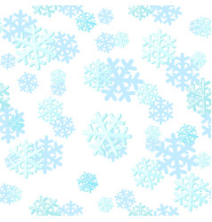 christmas seamless pattern with snowflakes can vector image