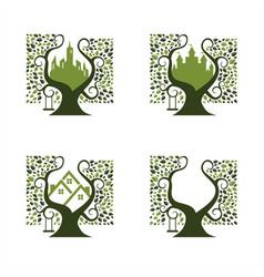 City park logo set 4 vector