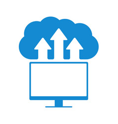 cloud computing concept modern design vector image