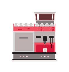 coffee machine isolated on white background vector image