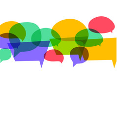 colorful speech bubbles in different colors vector image