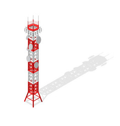 Communications tower mobile phone base or radio vector