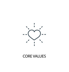 Core values concept line icon simple element vector