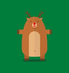 Cute fat big reindeer flat design vector