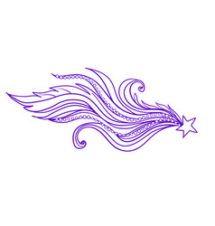 Decorative ornate comet or vector