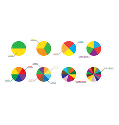 diagrams and infographics - visual representations vector image