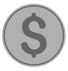 dollar silver coin vector image