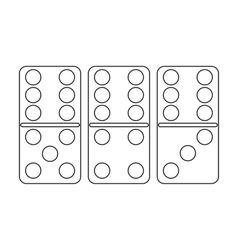 Domino icon in outline style isolated on white vector