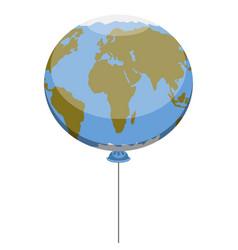 earth planet balloon vector image