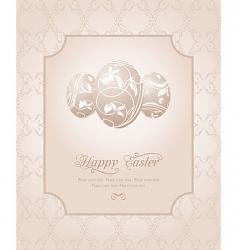 Easter vintage card vector image