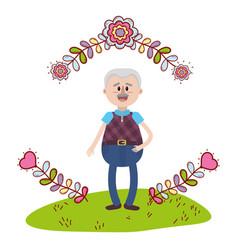 Elderly man cartoon vector