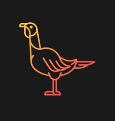 Female turkey gradient icon for dark theme vector