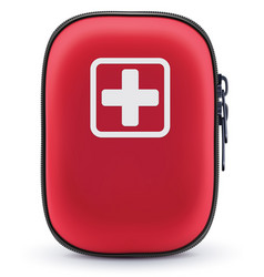 First aid red bag isolated on white vector