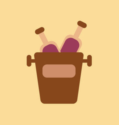 Flat icon on background bottle bucket vector