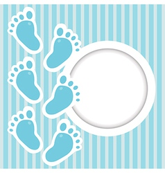 Frame with baby steps vector image