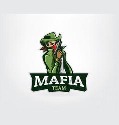 Gangster mascot logo vector
