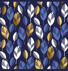 geometric style elegant foliage seamless pattern vector image