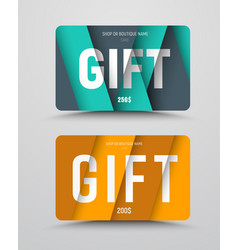 Gift card template with floating sheets of paper vector