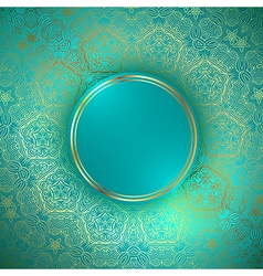 golden round abstract frame vector image
